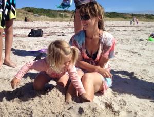 Kate and Yasmin at the beach