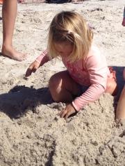 Yasmin in the sand