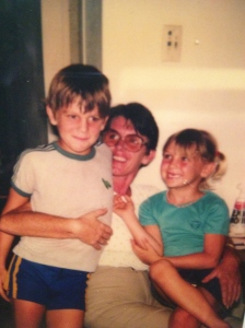 My brother and I with Mum